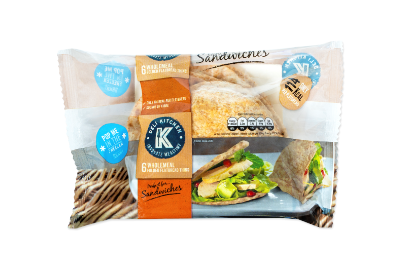 Deli Kitchen launches Wholemeal Folded Flatbread Thins