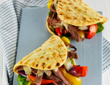 Brioche Folded Flatbread Philly Steak Melt