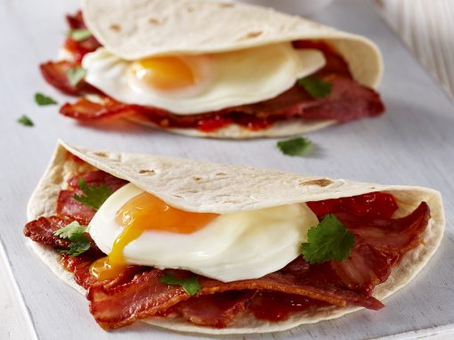 Egg and Bacon Breakfast Wraps